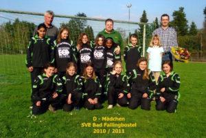 D - Mädchen SVE Bad Fallingbostel 2010 / 2011